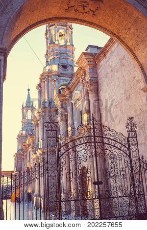 Arequipa city in Peru, South America
