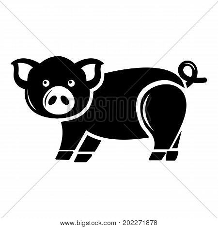 Cute pig icon . Simple illustration of cute pig vector icon for web design isolated on white background