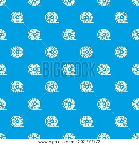 Abs or pla filament coil pattern repeat seamless in blue color for any design. Vector geometric illustration