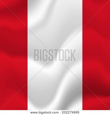 Peru waving flag. Waving flag. Vector illustration.