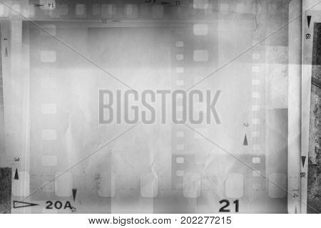 Overlapping film negative frames background