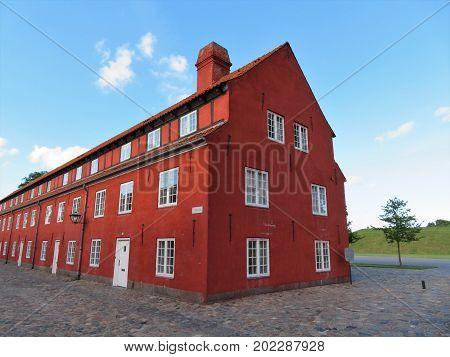 Kastellet, Star Fortress in Copenhagen. The Rows