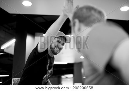 Startup Business People Teamwork Cooperation High Five Hands
