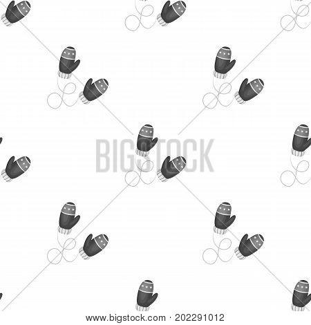 Winter mittens. Canada single icon in monochrome style vector symbol stock illustration .