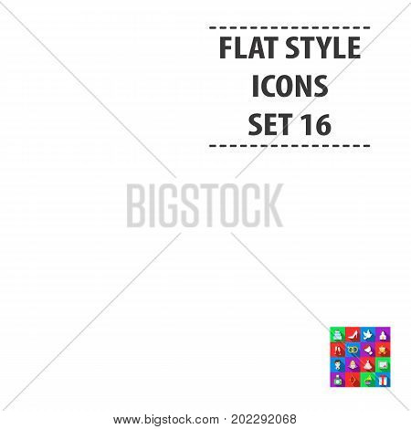 Weeding set icons in flat style. Big collection wedding vector symbol stock