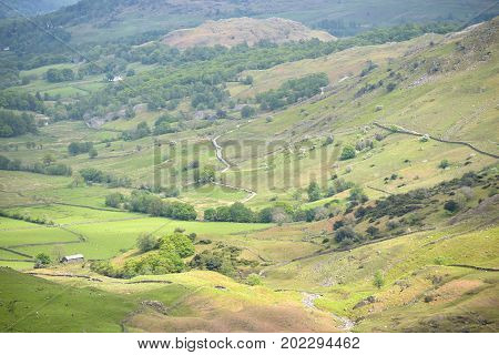 View over Little Langdale, English Lake District