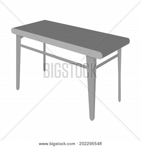 Wooden, dining table. Furniture and interior single icon in monochrome style Isometric vector symbol stock illustration .