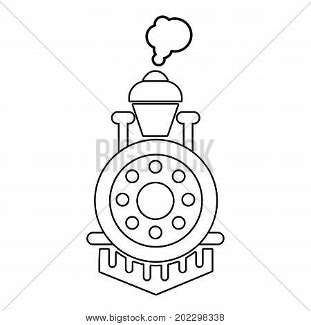 Locomotive icon. Outline illustration of locomotive vector icon for web design isolated on white background