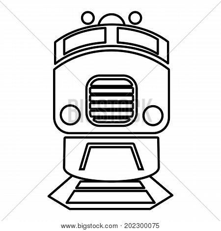 Train icon. Outline illustration of train vector icon for web design isolated on white background