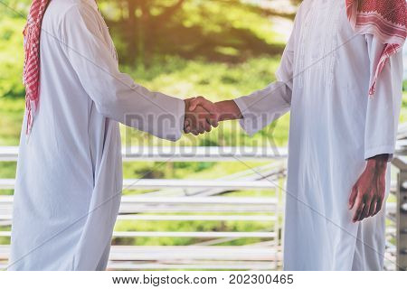 Arab Man Shaking Hands, Business Success