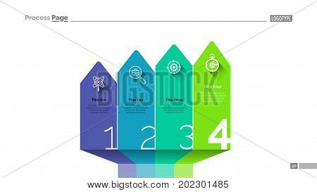 Arrow bar chart slide template. Business data. Graph, diagram, design. Creative concept for infographic, project. Can be used for topics like sequence, steps, startup