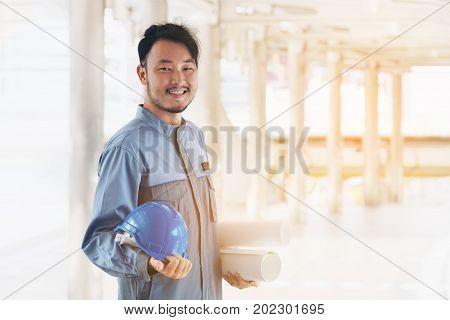 Portrait Of Happy Asian Engineer
