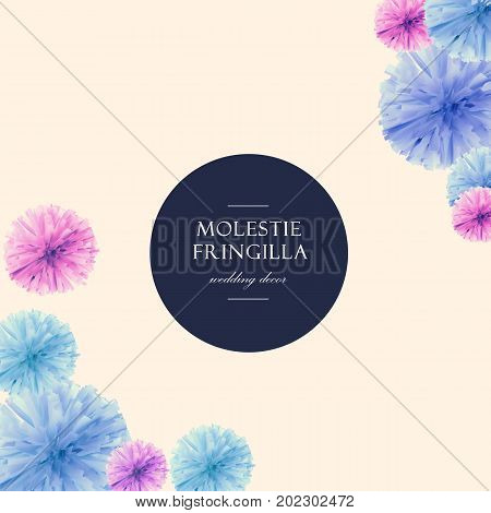 Girly Pastel background with paper abstract flowers suitable for wedding invitations greeting cards for girls promotional posters and for the design of websites.