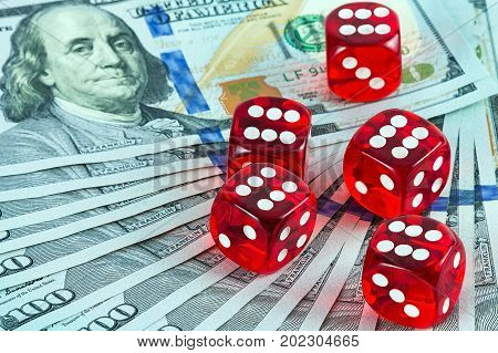 games Casino dices on American One Hundred Dollar Bill Currency Dollar Wealth US Currency