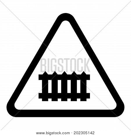 Crossing railroad barrier icon . Simple illustration of crossing railroad barrier vector icon for web design isolated on white background
