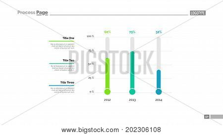 Timeline bar slide template. Business data. Graph, diagram, design. Creative concept for infographic, report. Can be used for topics like comparison, changes, demography