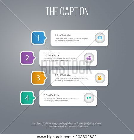 Icon Film Set Of Cinematography, Label, Coupon And Other Vector Objects