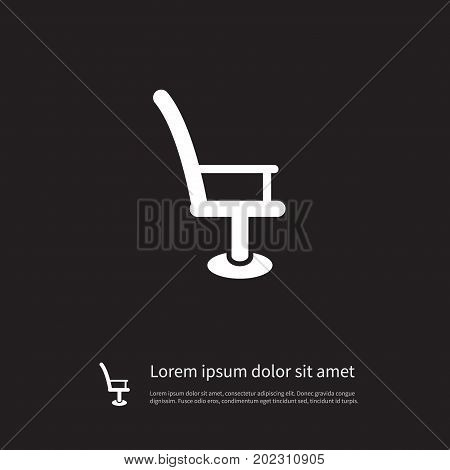 Armchair Vector Element Can Be Used For Barbershop, Chair, Armchair Design Concept.  Isolated Barbershop Icon.