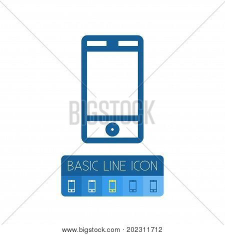 Smartphone Vector Element Can Be Used For Cellphone, Touchscreen, Smartphone Design Concept.  Isolated Touchscreen Outline.