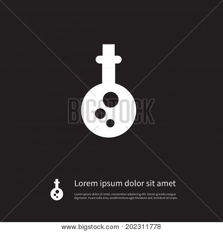 Poison Vector Element Can Be Used For Substance, Poison, Warning Design Concept.  Isolated Substance Icon.