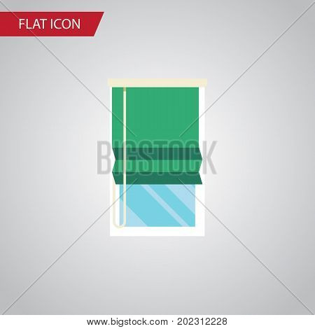 Balcony Vector Element Can Be Used For Balcony, Window, Curtain Design Concept.  Isolated Glazing Flat Icon.
