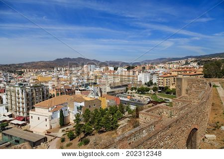 A View of Malaga from on Alcazaba