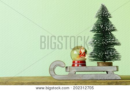 funny Christmas composition, a toy Christmas tree