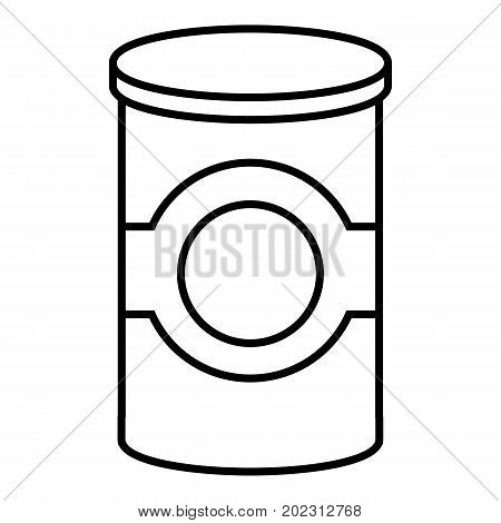 Cosmetic jar plastic icon. Outline illustration of cosmetic jar plastic vector icon for web design isolated on white background