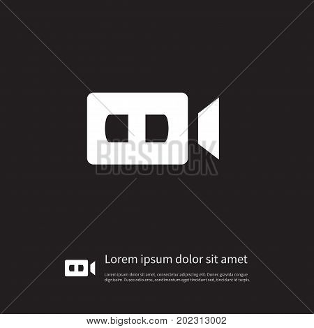 Video Cam Vector Element Can Be Used For Device, Video, Cam Design Concept.  Isolated Device Icon.