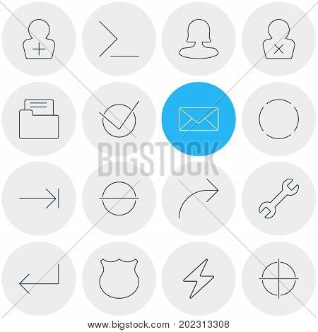 Editable Pack Of Remove, Share, Repeat And Other Elements.  Vector Illustration Of 16 Interface Icons.