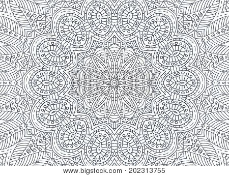 Background with abstract black and white outline concentric pattern