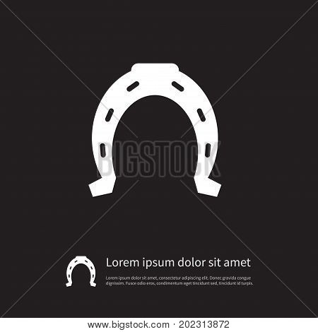 Metal Vector Element Can Be Used For Shoe, Horseshoe, Metal Design Concept.  Isolated Horse Icon.