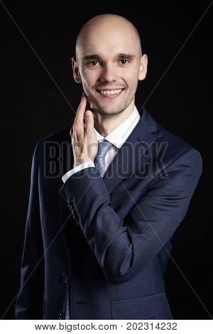 Man Stroking His Chin