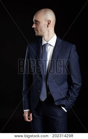 Man In Suit Looking Right