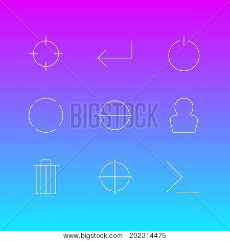Editable Pack Of Switch Off, Startup, Avatar And Other Elements.  Vector Illustration Of 9 User Icons.