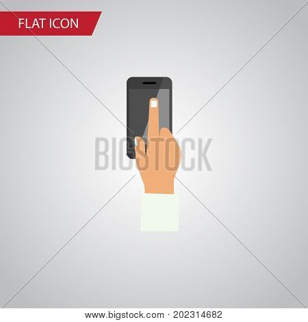 Touchscreen Vector Element Can Be Used For Touchscreen, Interactive, Display Design Concept.  Isolated Interactive Display Flat Icon.