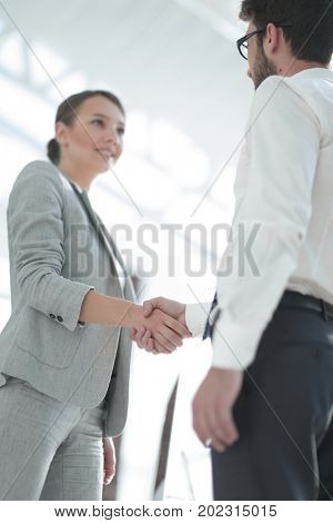close-up. handshake business partners
