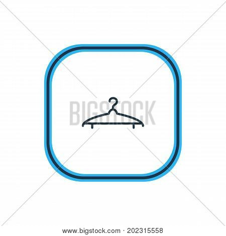 Beautiful Clothes Element Also Can Be Used As Cloakroom Element.  Vector Illustration Of Hanger Outline.