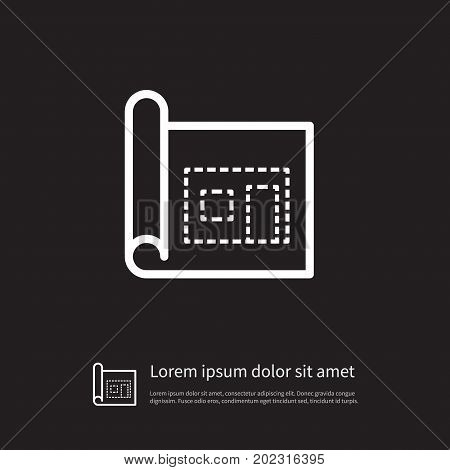 Architectural Vector Element Can Be Used For Blueprint, Architectural, Page Design Concept.  Isolated Page Icon.