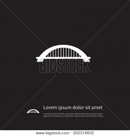 Arch Vector Element Can Be Used For Suspension, Bridge, Arch Design Concept.  Isolated Suspension Icon.
