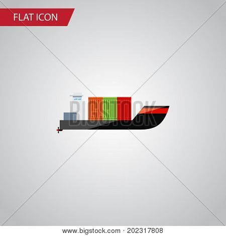 Tanker Vector Element Can Be Used For Cargo, Ship, Tanker Design Concept.  Isolated Cargo Flat Icon.