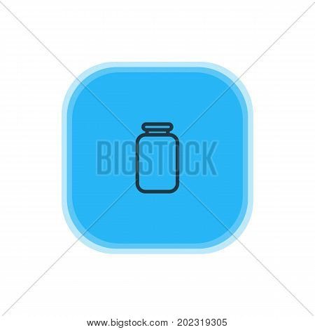 Beautiful Kitchenware Element Also Can Be Used As Can Element.  Vector Illustration Of Jar Icon.