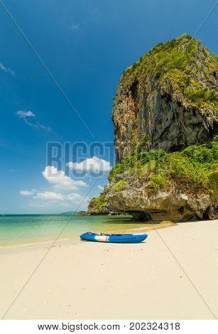 Ton Sai beach in Krabi Thailand