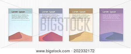 Minimalistic Design Desert Covers. Simple Template. EPS10 Vector
