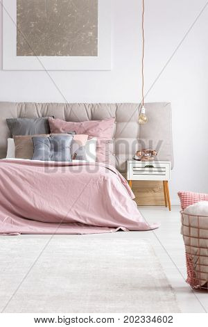 Elegant Bedroom With Copper Phone