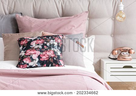 Pastel Color Pillows In Bedroom