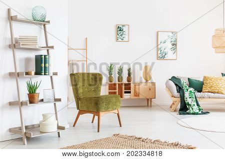 Room With Shelf And Chair