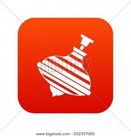 Carousel humming top icon digital red for any design isolated on white vector illustration