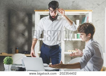 European Worker With Supervisor