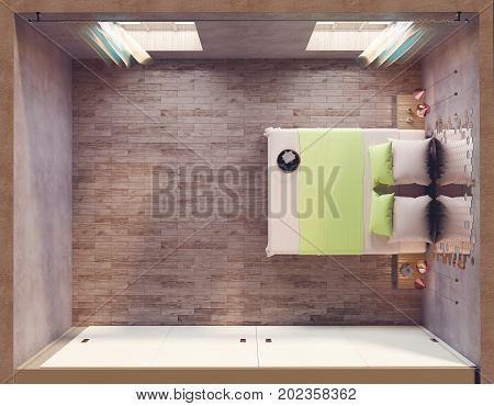 Loft Bedroom Topview